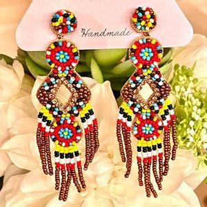 NWT Deepa Gurnani Gorgeous Beaded Chandeliers